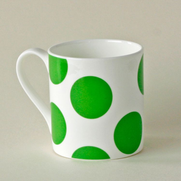 Bone China Spotty Mug Green The Big Issue