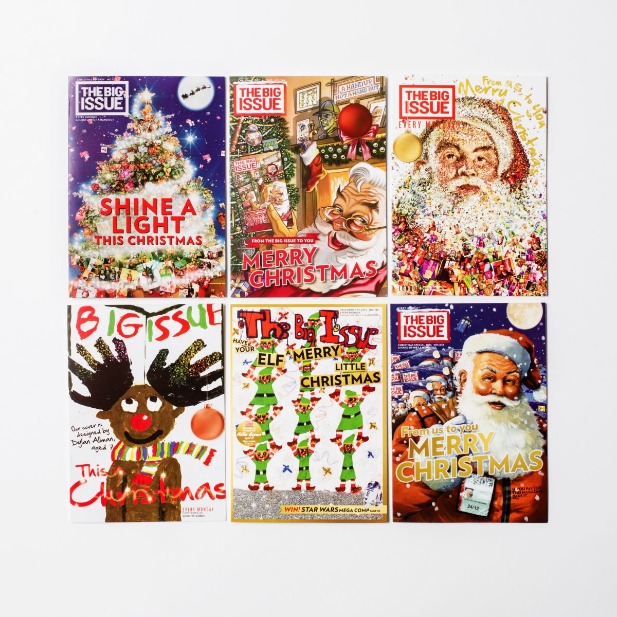 The Big Issue Christmas Cards- Selection Pack of 6 cards with ...